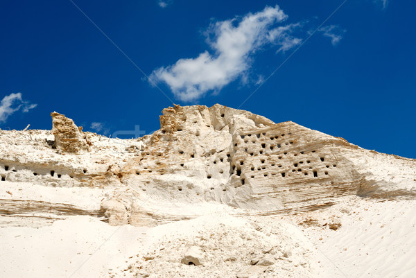 Sandy mountain with the bird's nests Stock photo © nemalo