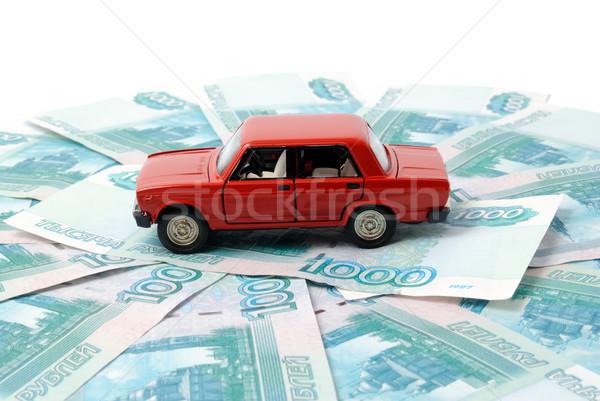 Autó pénz játék bankjegyek absztrakt felirat Stock fotó © nemalo