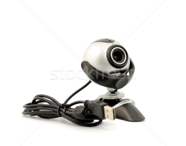 Webkamera modern izolált fehér számítógép biztonság Stock fotó © nemalo
