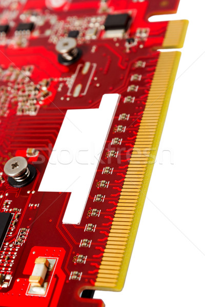 Stock photo: Electronic collection - PCI-e data connector videocard