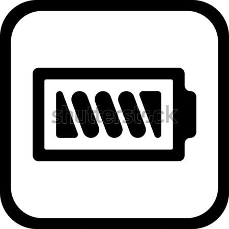 Bateria ícone vetor projeto eps 10 Foto stock © nemalo