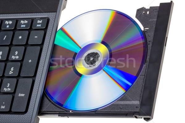 Foto d'archivio: Elettronica · raccolta · laptop · open · vassoio · isolato