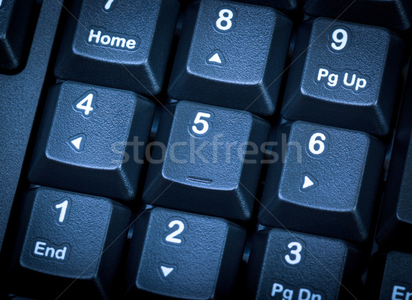 Electronic collection - numeric keypad on the computer keyboard. Stock photo © nemalo