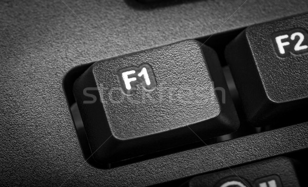 Electronic collection - detail computer. The focus on F1 key. Stock photo © nemalo
