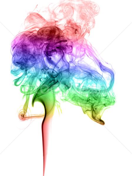 Abstrato fumar luz arte onda Foto stock © nemalo