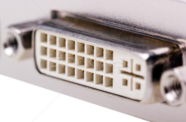 Electronic collection - DVI connector Stock photo © nemalo