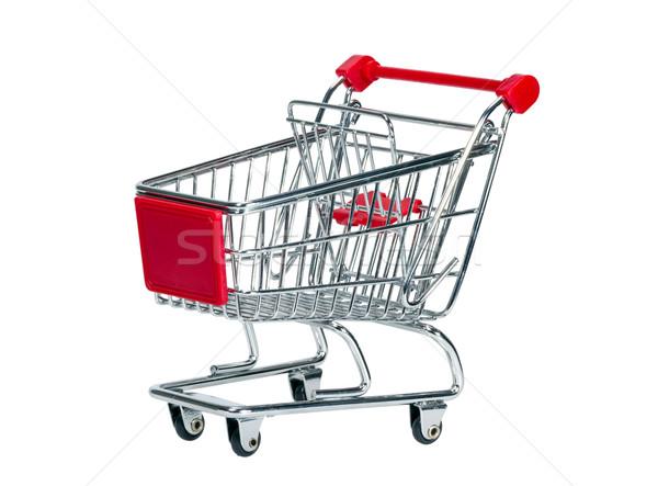 ショッピングカート 空っぽ 孤立した 白 背景 ショッピング ストックフォト © nemalo