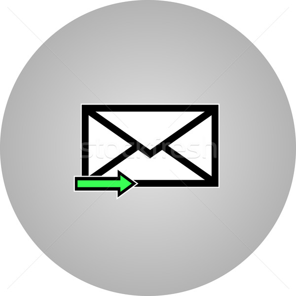 E-mail symbool brief icon vector ontwerp Stockfoto © nemalo