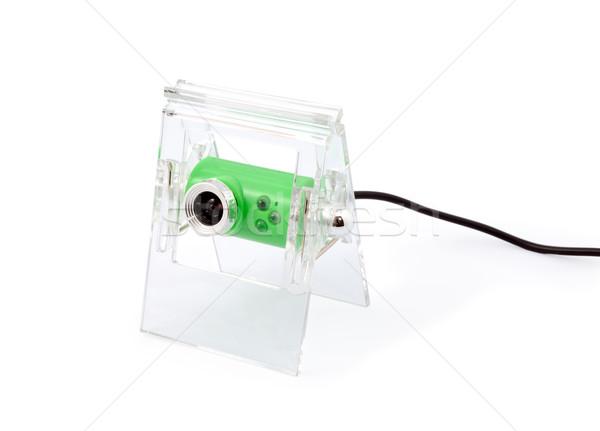 Webkamera modern izolált fehér biztonság háló Stock fotó © nemalo