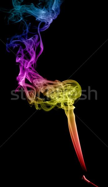 Stock fotó: Absztrakt · tarka · füst · sötét · művészet · fekete