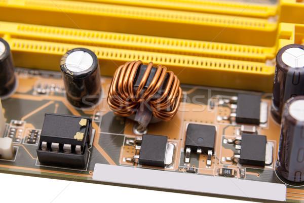 Elektronikus gyűjtemény erő modern emlék alaplap Stock fotó © nemalo