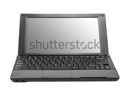 Electronic collection - Modern laptop isolated on white backgrou Stock photo © nemalo