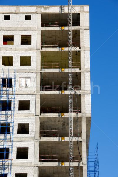 Construction of office building Stock photo © nemalo