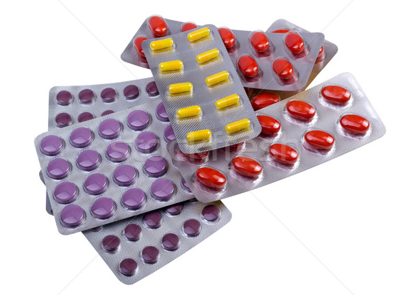 Medicine pills and capsules packed in blisters Stock photo © nemalo