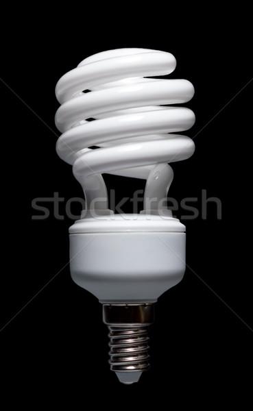 Energia takarékosság kompakt fluoreszkáló villanykörte spirál Stock fotó © nemalo