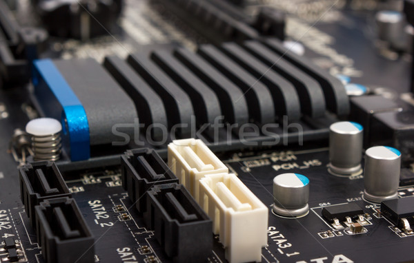 Electronic collection - digital components on computer mainboard Stock photo © nemalo