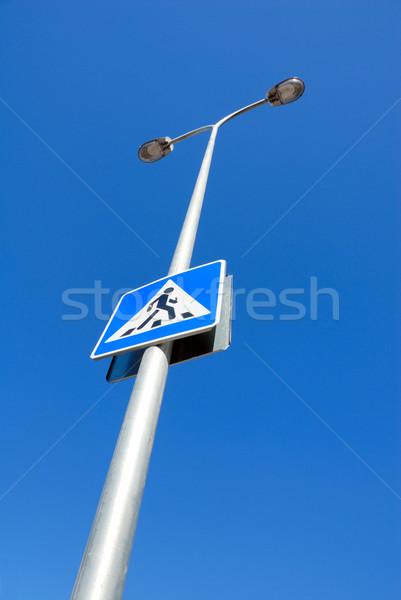 Guide sign, illumination column. Stock photo © nemalo