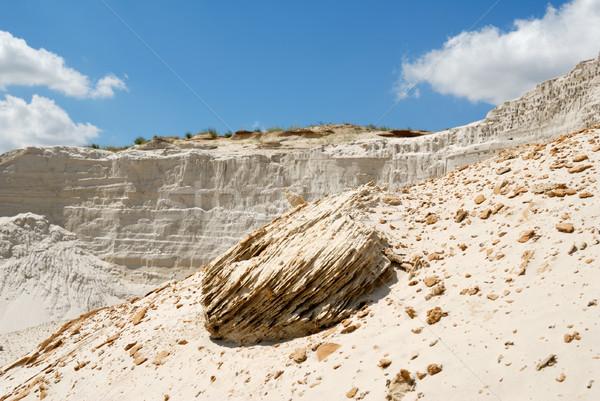 Piasku piaszczysty górskich charakter krajobraz Zdjęcia stock © nemalo