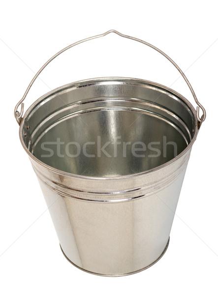 Fémes vödör cink izolált fehér retro Stock fotó © nemalo