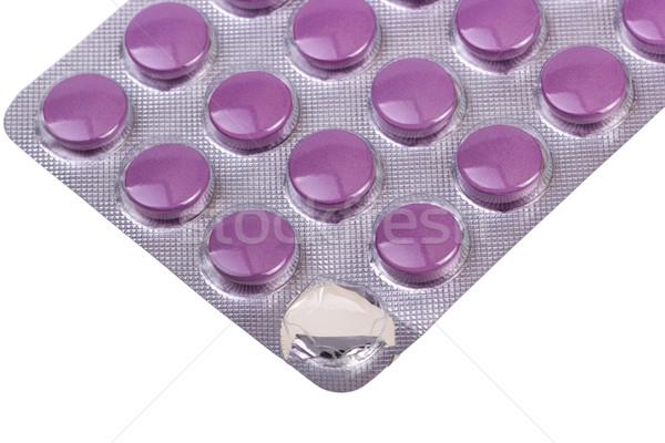 Medicina pílulas isolado branco médico saúde Foto stock © nemalo