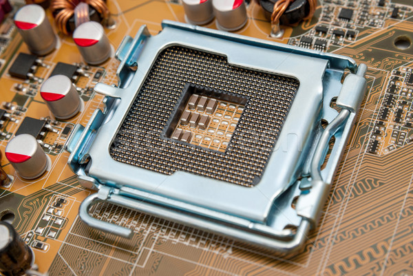 Electrónico colección vacío CPU enchufe procesador Foto stock © nemalo