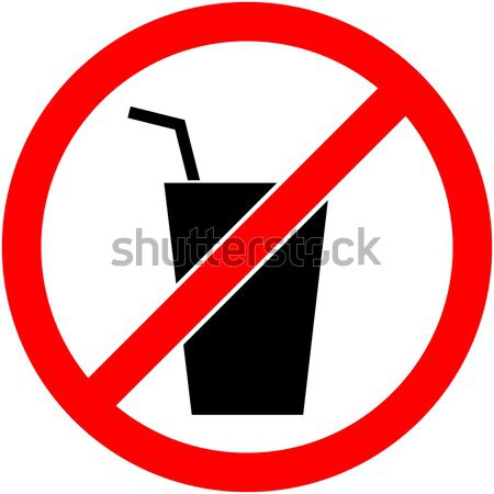 No bere segno design simbolo Foto d'archivio © nemalo