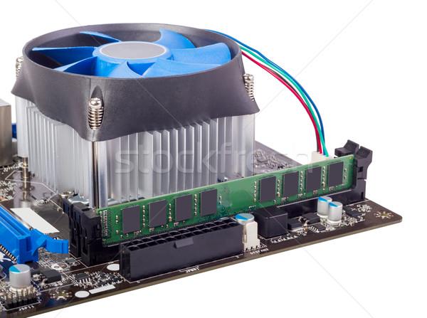 Photo stock: électronique · ensemble · ordinateur · carte · mère · cpu · isolé