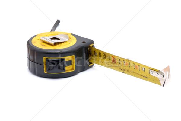 Work tool series: Old tape measure Stock photo © nemalo