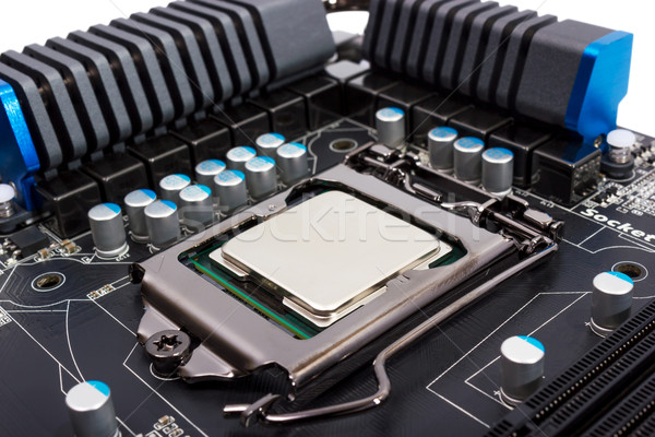 Electronic collection - Multiphase power system modern processor Stock photo © nemalo