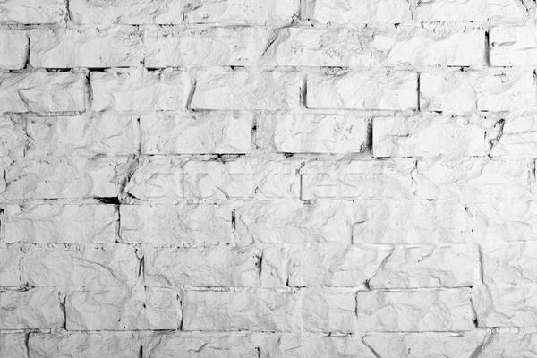 Backgrounds collection - White brick wall Stock photo © nemalo
