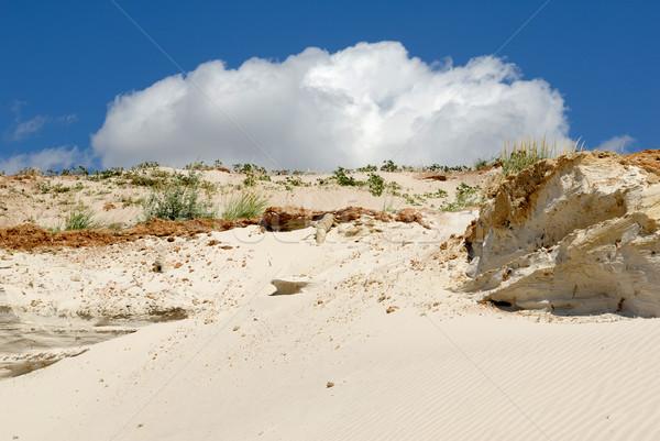 Stok fotoğraf: Kumlu · dağ · mavi · gökyüzü · toprak · taş