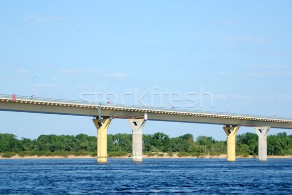 Bridge on the river Volga, Russia Stock photo © nemalo