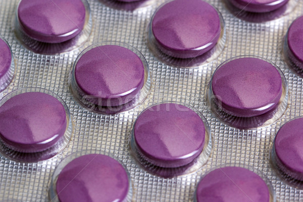Medicine pills packed in blisters Stock photo © nemalo