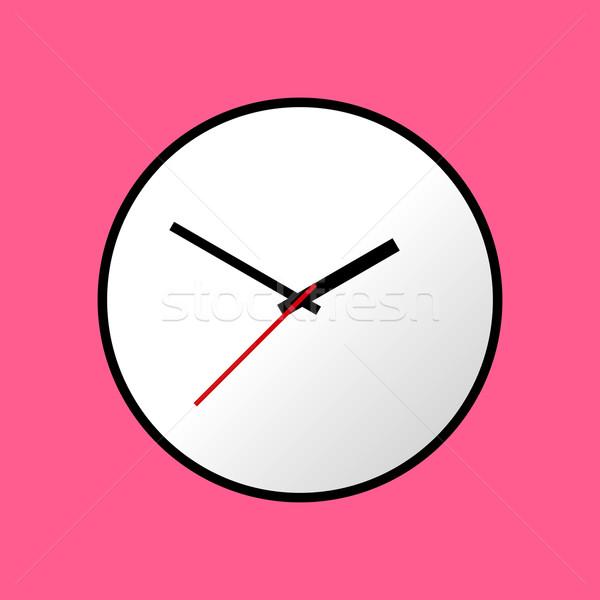 óra ikon terv eps10 könnyű rózsaszín Stock fotó © nemalo