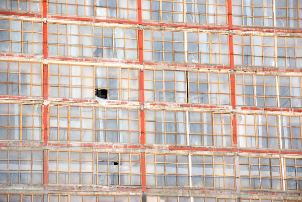Fal épület öreg hotel város építkezés Stock fotó © nemalo