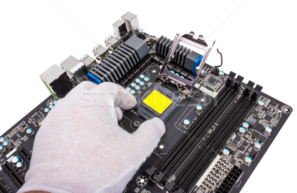 Electronic collection - Installation of processor Stock photo © nemalo
