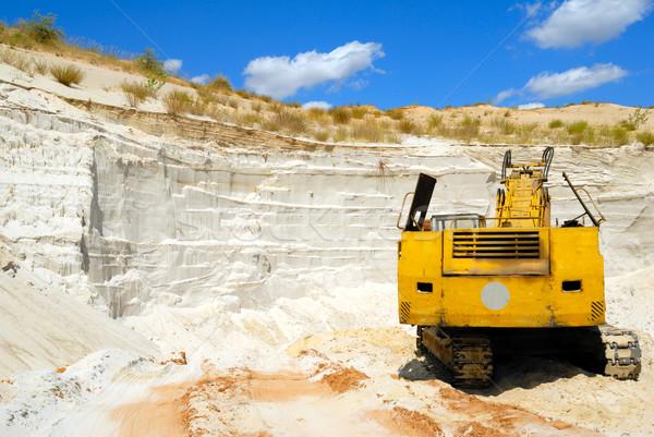 Kumlu kariyer eski sarı toprak kum Stok fotoğraf © nemalo