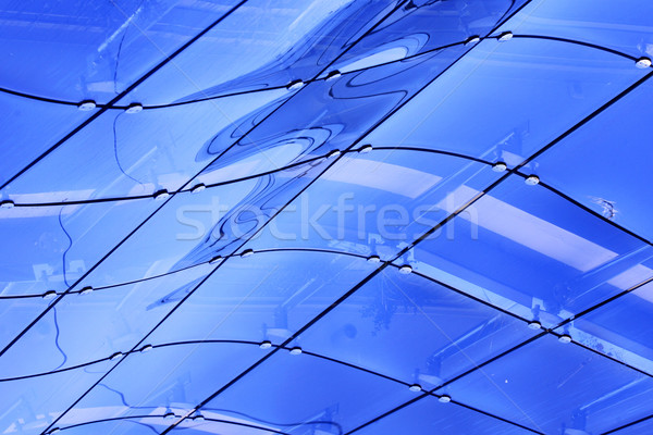 Incomum abstrato janela edifício moderno forma abstrata edifício Foto stock © nemar974