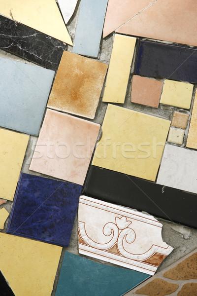 Renkli mozaik eski fayans kırık soyut Stok fotoğraf © nemar974