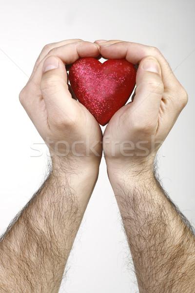 Kalp eller okumak el sağlık kırmızı Stok fotoğraf © nemar974