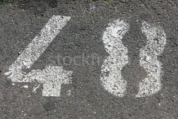 Detay numara kırk sekiz boyalı Stok fotoğraf © nemar974