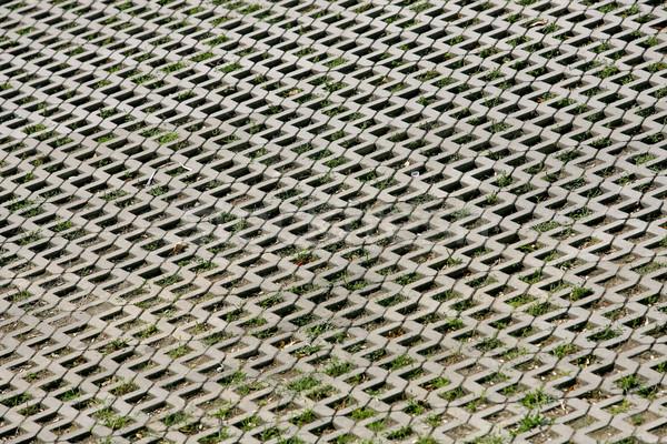Fragment trottoir weg bouw muur steen Stockfoto © nemar974