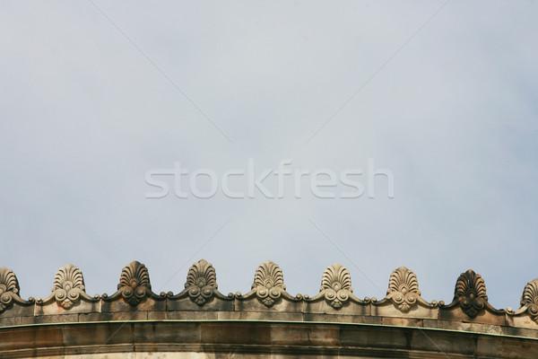 Mimari ayrıntılar taş dekorasyon mavi gökyüzü doku Stok fotoğraf © nemar974