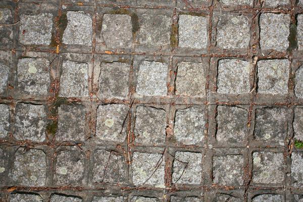 Parça kaldırım taş doku duvar arka plan Stok fotoğraf © nemar974