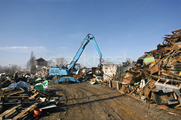 Loads of metal waste on the junkyard , to be recycled Stock photo © nemar974