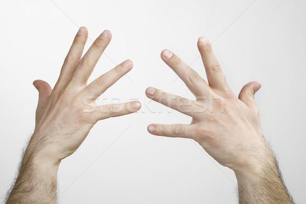 Adam eller yalıtılmış iki iş imzalamak Stok fotoğraf © nemar974