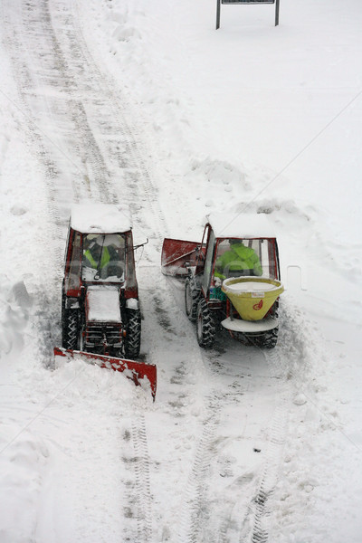 Yol kar buz çalışma renk makine Stok fotoğraf © nemar974