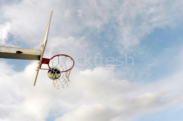 バスケット ボール ボード 青空 白 雲 ストックフォト © nemar974