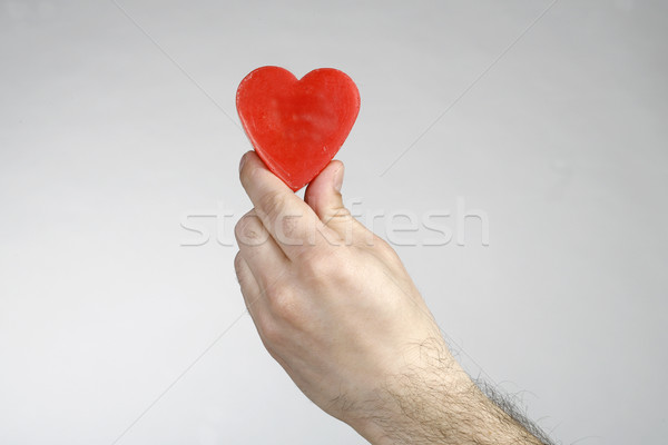 Kalp el okumak sevmek sağlık kırmızı Stok fotoğraf © nemar974
