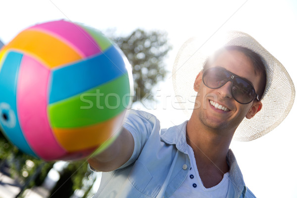 Young boy having fun in a park Stock photo © nenetus